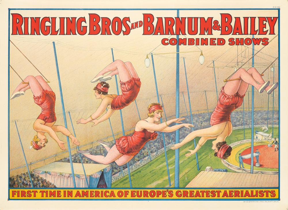 Ringling Brothers and Barnum & Bailey / Greatest Aerialists. ca. 1919.