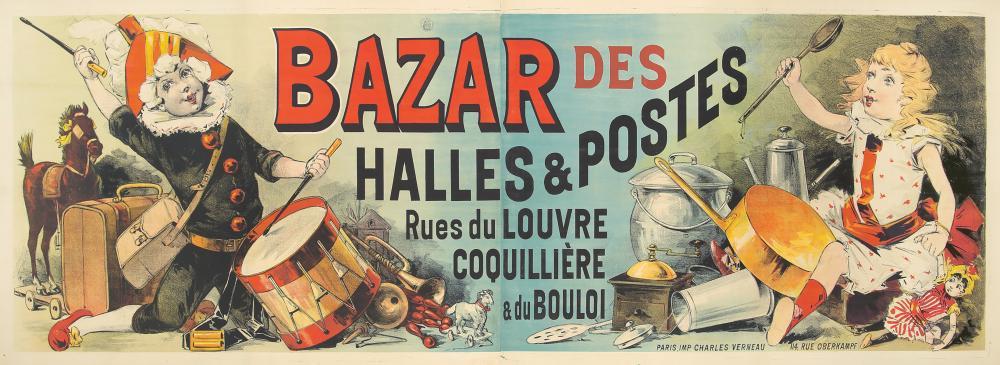 Bazar des Halles & Postes. ca. 1893.