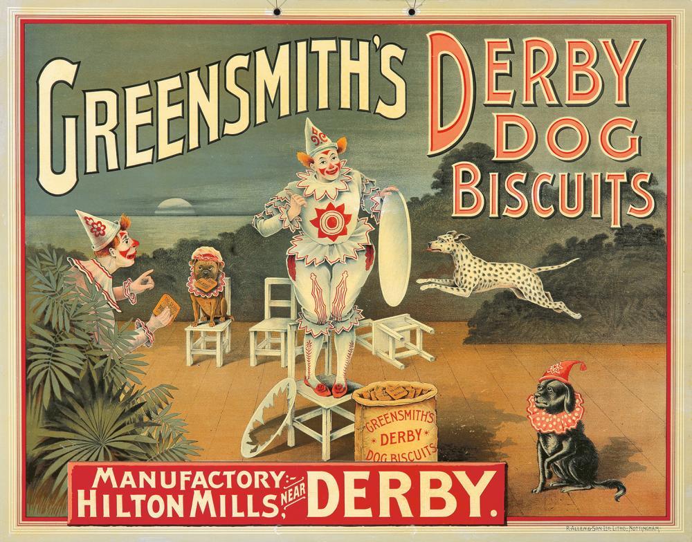Greensmith's Derby Dog Biscuits. ca. 1905.