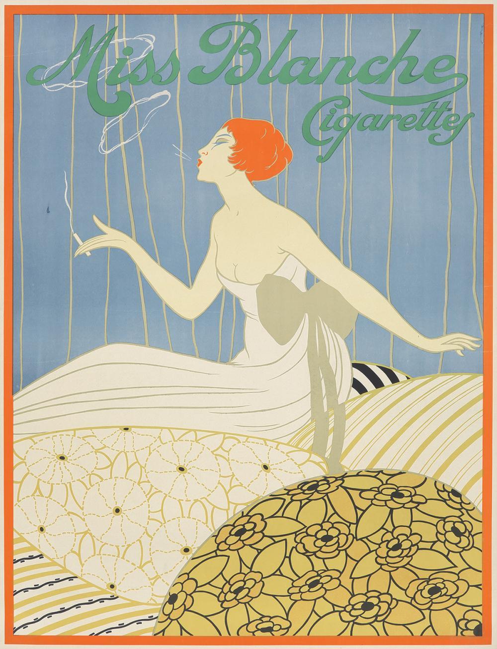 Miss Blanche Cigarettes. 1920.