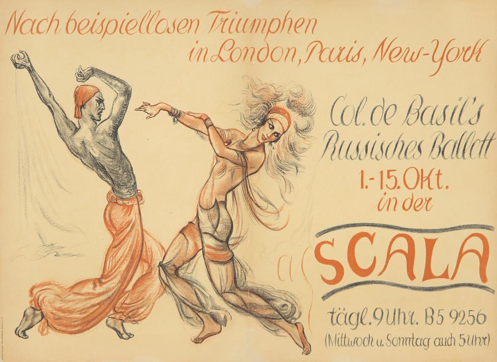 Scala / Col. de Basil's Russisches Ballett. 1939.
