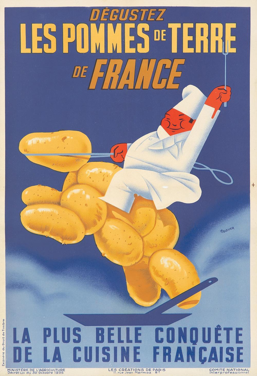 Les Pommes de Terre de France. 1935.