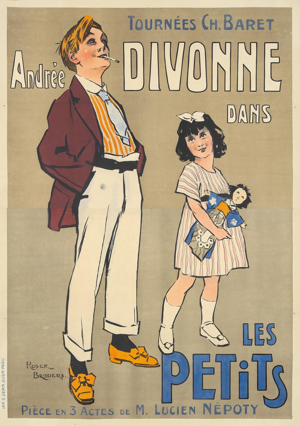 Andrée Divonne dans Les Petits. 1912.