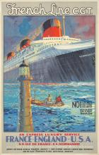 French Line/Normandie. ca. 1938.