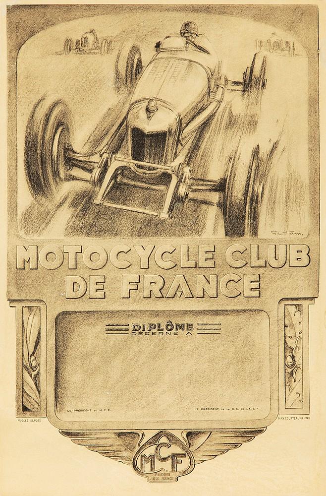 Motocycle Club de France. ca. 1932