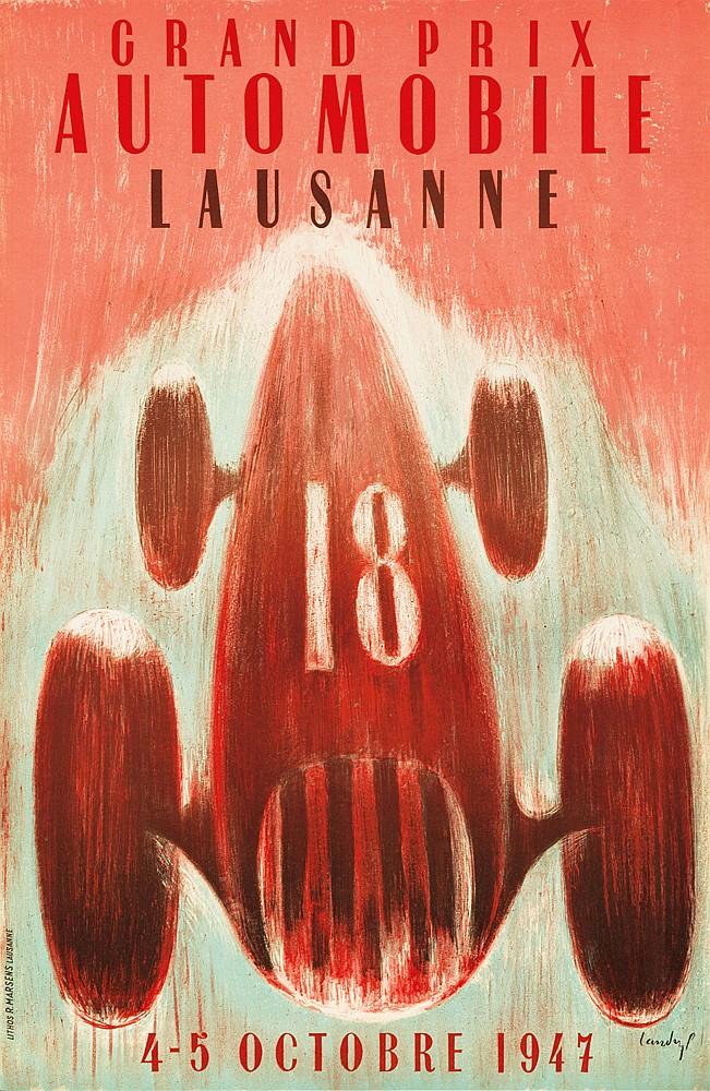 Grand Prix Automobile / Lausanne. 1947