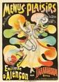 Menus-Plaisirs / Emilienne d'Alencon. ca. 1896