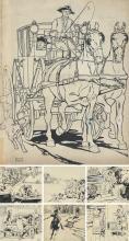Hart Schaffner & Marx : 7 Drawings. ca. 1920.