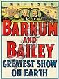 Barnum and Bailey / Greatest Show on Earth. 1915