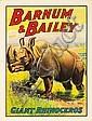 Barnum & Bailey / Giant Rhinoceros. 1909