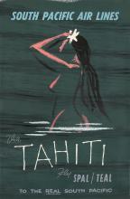South Pacific Air Lines / Tahiti. ca. 1960.