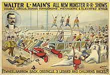 Walter L. Main's / Wheelbarrow Races. ca. 1898