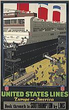 United States Lines / Leviathan at Southampton. ca. 1928
