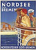 Norddeutscher Lloyd Bremen / Nordsee. 1933, Fritz Kück, Click for value