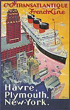 Transatlantique / Havre, Plymouth, New-York. 1922
