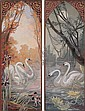 Swans: Two Decorative Panels., Mary Speich, Click for value