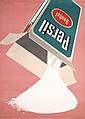 Original 1940s DONALD BRUN Swiss Design Persil Poster