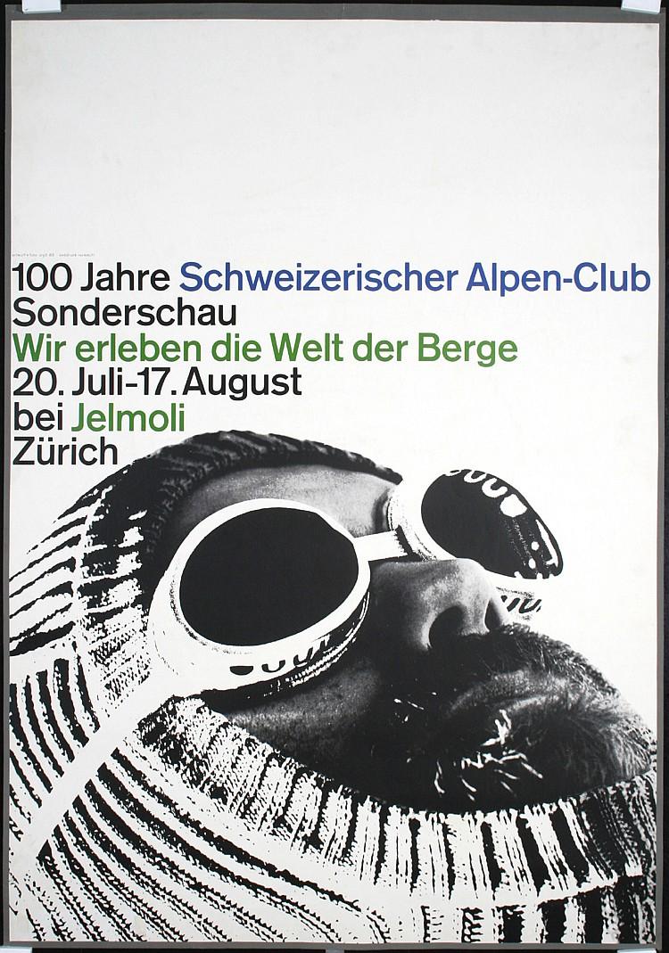Original 1960s WERNER ZRYD Alpine Photomontage Poster