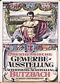 Original 1890s German Trade Exhibition Poster Plakat