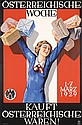 Old Original 1920s Austrian Advertising Poster Plakat