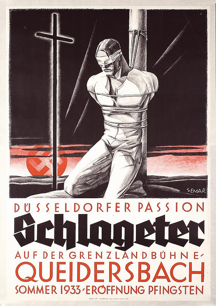 Original 1933 German WW II Theater Poster SCHLAGETER