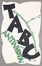 Original 1910s Austrian TABU Poster JULIUS KLINGER