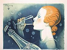 STUNNING ORIGINAL 1930s French Verdier Poster MONNIER
