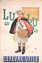 Original 1890s Lulu Lefevre Utile French Cookie Poster