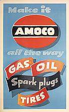 Original 1940s Amoco Oil Tire Poster