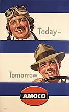 Original 1940s American Amoco Poster
