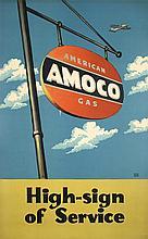 Original 1940s/50s LUCIAN BERNHARD Amoco USA Poster