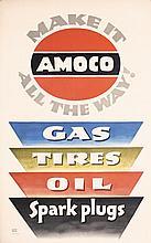 Original 1940s LUCIAN BERNHARD Amoco USA Poster
