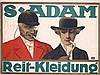Original 1910s German S.Adam Equestrian Clothes Poster, Louis Oppenheim, Click for value