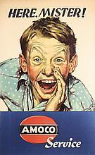 Original 1940s Amoco Auto Service  USA Poster