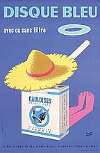 Funny Original 1950s French Gauloises Cigarette Poster