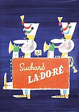 ORIGINAL 1950s Swiss Design Suchard Chocolate Poster LE