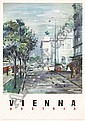 Original 1950s Vienna Austria Travel Poster, Hermann Kosel, Click for value