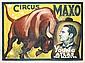 Original German Circus Maxo Poster Plakat 1930s, Wilhelm Eigener, Click for value