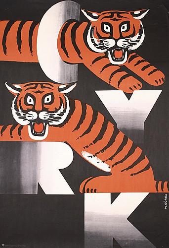 Set of 2 Original Polish Cyrk Circus Posters Plakate