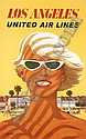 Stan Galli United Air Lines Los Angeles Poster Blonde, Stanley Walter Galli, Click for value