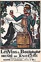 Original 1920s Bourgogne French Wine Poster Plakat, Guy Arnoux, Click for value