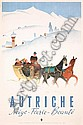 Old 1950s Austrian Winter Travel Poster Plakat KOSEL, Hermann Kosel, Click for value