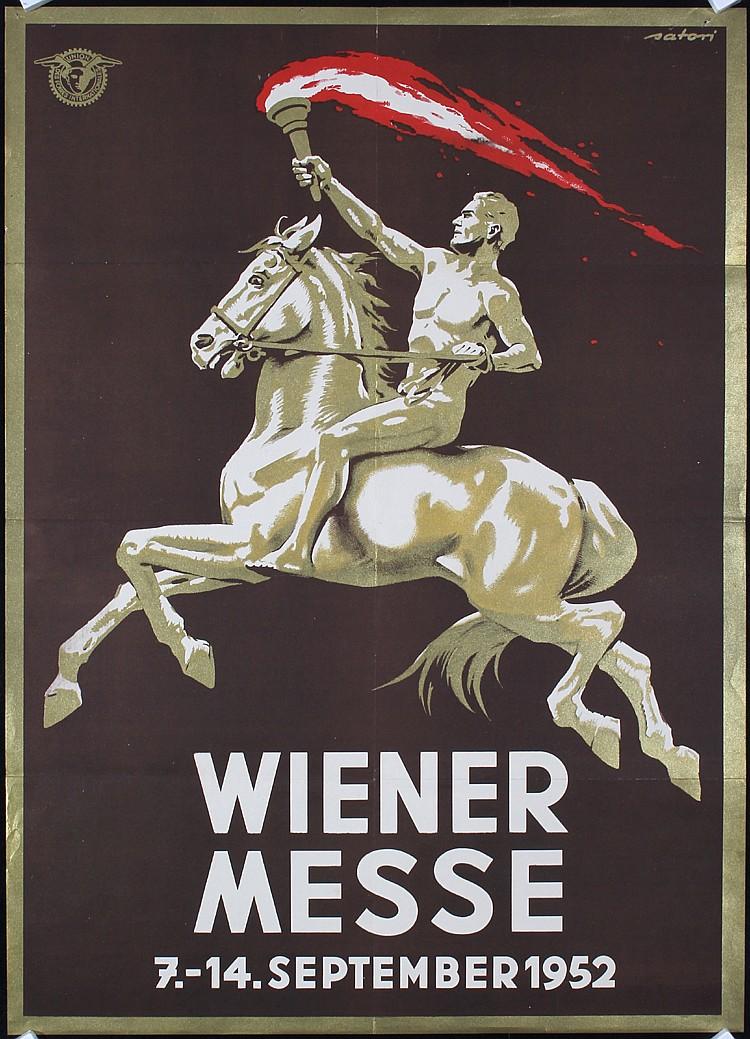 2 Original 1950s/60s Vienna Fair Travel Posters SATORI