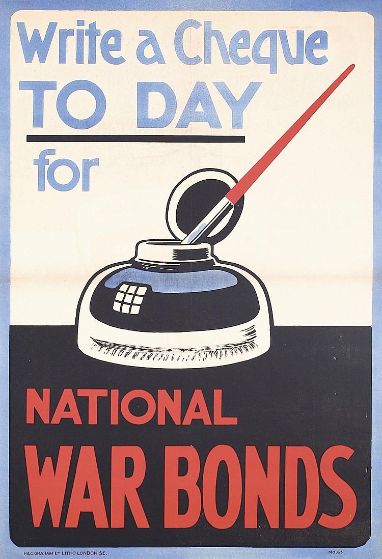 Original American World War I Fountain Pen Ink Poster
