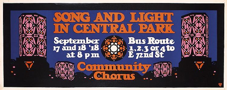 Original 1918 USA WW I New York Central Park Poster