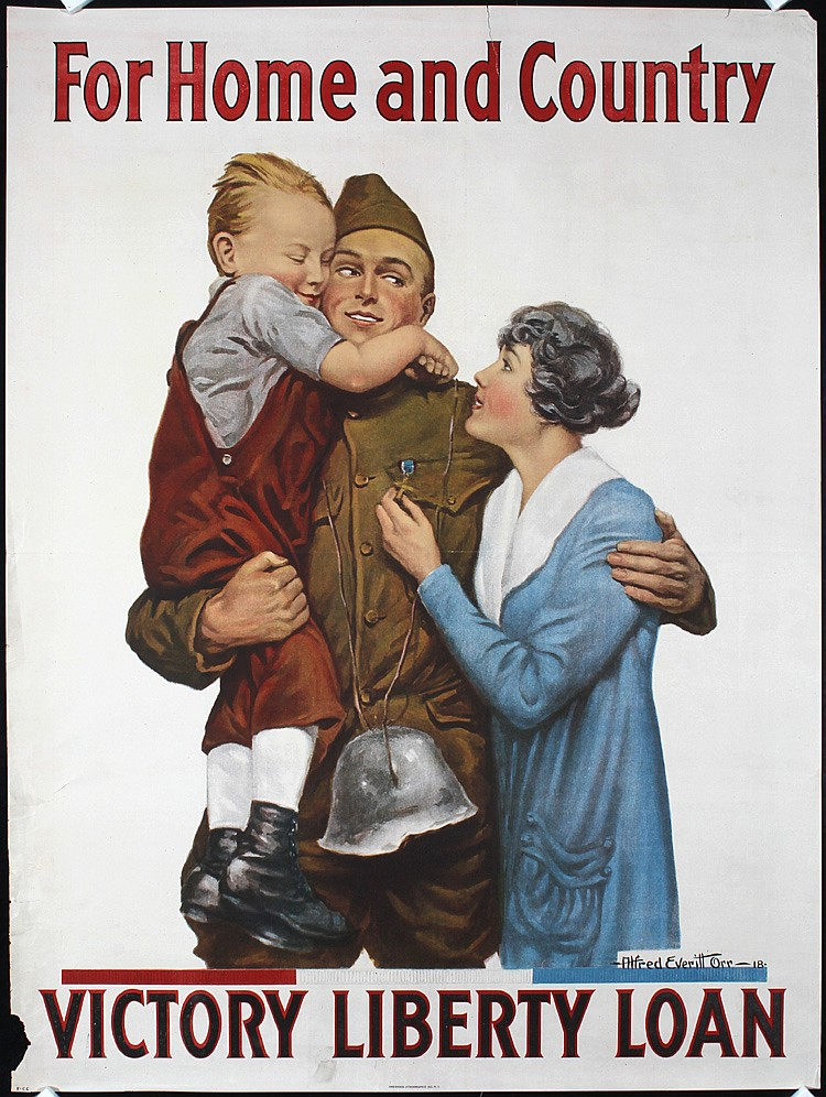 2 Original 1918 American World War I Poster ORR Art