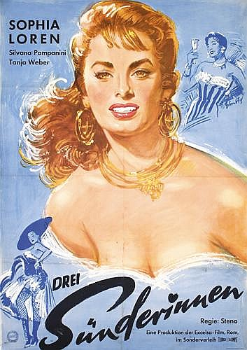 Original 1950s Sophia Loren Poster A Day In Court