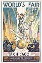 Rare Original 1933 Chicago World´s Fair Poster Sheffer, Glenn C Sheffer, Click for value