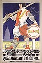 Old Original 1910s German Shooting Competition Poster