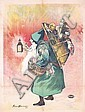 Original French Santa Claus Poster 1890s, Etienne-Maurice-Firmin Bouisset, Click for value